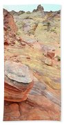 Wash 3 Color In Valley Of Fire Beach Towel