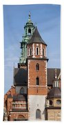 Wawel Cathedral In Krakow Beach Towel