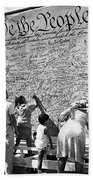 We The People Signing Bicentennial Of The Constitution Tucson Arizona 1987 Beach Towel