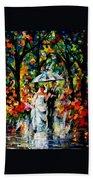 Wedding Under The Rain Beach Towel