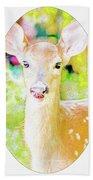 White-tailed Virginia Deer Fawn Beach Towel