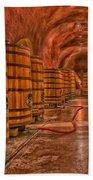 Wine Barrels Beach Towel