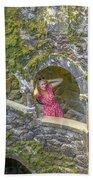 Woman Tourist In Sintra Beach Towel