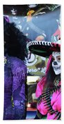 2 Women Day Of The Dead  Beach Towel