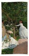 Women In The Garden Beach Towel