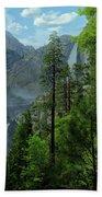 Yosemite Falls Beach Towel