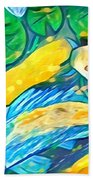 Koi Fish Beach Towel