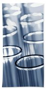 Laboratory Test Tubes In Science Research Lab Beach Towel