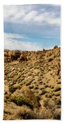 Rocks, Mountains And Sky At Alabama Hills, The Mobius Arch Loop  Beach Towel
