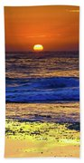 Sunrise Seascape And Rock Platform Beach Towel