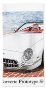 2003 Corvette Prototype Beach Towel