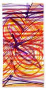 2007 Abstract Drawing 2 Beach Towel