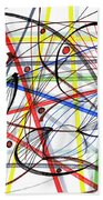 2007 Abstract Drawing 7 Beach Towel