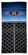 2007 Bentley Continental Gtc Convertible Hood Ornament Beach Towel
