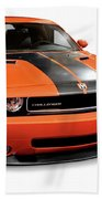 2008 Dodge Challenger Srt Muscle Car Beach Towel