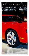 2009 Dodge Challenger Number 2 Beach Towel