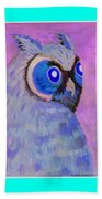 2009 Owl Negative Beach Towel