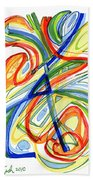 2010 Abstract Drawing Eight Beach Towel