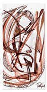 2010 Abstract Drawing Five Beach Towel
