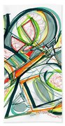 2010 Abstract Drawing Seventeen Beach Towel