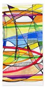 2010 Abstract Drawing Sixteen Beach Towel
