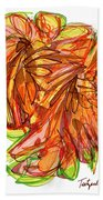 2010 Abstract Drawing Ten Beach Towel
