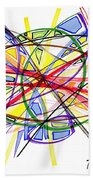 2010 Abstract Drawing Twelve Beach Towel