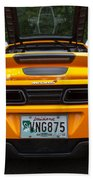 2012 Mc Laren Exhausts And Taillights Beach Towel