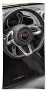2012 Mc Laren Steering Wheel Beach Towel