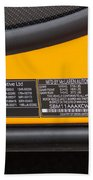 2012 Mc Laren V. I. N. Tag Beach Towel
