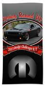 2013 Dodge Challenger Rt Wheeler Beach Towel