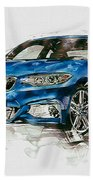 2014 B M W 2 Series Coupe With 3d Badge Beach Towel