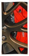 2015 Dodge Challenger Srt Hellcat Wheel Beach Towel