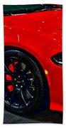 2015 Dodge Charger Srt Hellcat Beach Towel