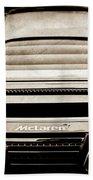 2015 Mclaren 650s Spider Rear Emblem -0011s Beach Towel