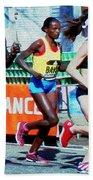 2016 Boston Marathon Winner 2 Beach Towel