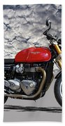 2016 Triumph Cafe Racer Motorcycle Beach Towel