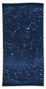 2017 Pi Day Star Chart Hammer/aitoff Projection Beach Towel