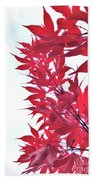2017 Red Maple 3 Beach Towel