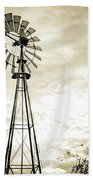 2017_08_midland Tx_windmill 3 Beach Towel