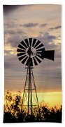 2017_09_midland Tx_windmill 9 Beach Towel