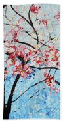 201726 Cherry Blossoms Beach Towel
