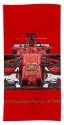 2017scuderia Ferrari Sf70h Beach Towel