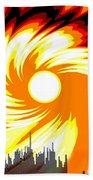 205 - Poster Climate Change  2 ... Burning Summer  Sun  Beach Towel