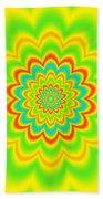 Psycho Hypno Floral Pattern Beach Towel