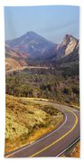 212308 Road To Sheep Creek Canyon Beach Towel