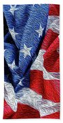 American Flag 40 Beach Towel