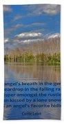 22- An Angel's Breath Beach Towel by Joseph Keane