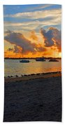 22- Sunset At Seagull Beach Beach Towel
