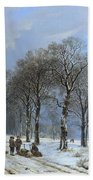 Winter Landscape Beach Towel